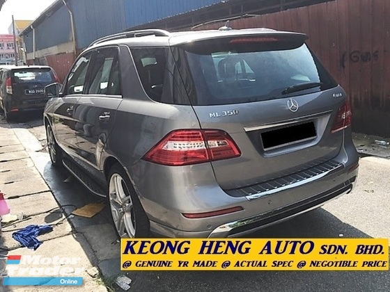 2014 MERCEDES-BENZ ML-CLASS ML350 W166 3.5 4MATIC V6 SUV (ACTUAL YR MADE 2014)(REG 2015)(WARRANTY TIL 2O19)(CBU IMPORT BARU)(LIKE NEW)