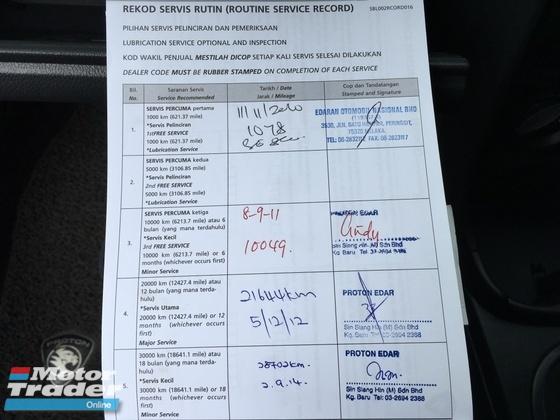 2010 PROTON SAGA SAGA 1.3 BLM ONE OWNER FULL SERVICE RECORD ORIGINAL PAINT
