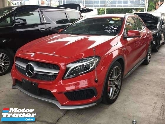 2015 MERCEDES-BENZ GLA 45 AMG 2.0  SCOLL TURBO 360 HP JAPAN SPEC