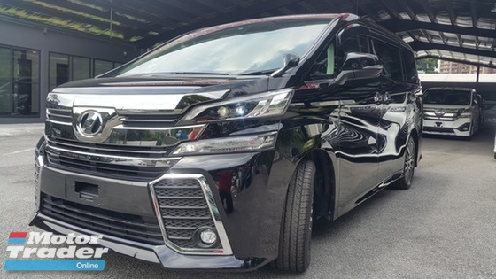 2016 TOYOTA VELLFIRE 2016 Toyota Vellfire 2.5 Z G Edition MPV NO GST MORE THAN 100 UNITS PLS CALL 0193839680 CHONG
