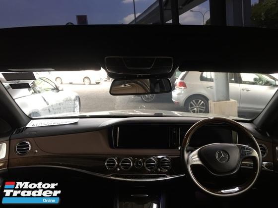 2015 MERCEDES-BENZ S-CLASS S400L 3.5 29k KM Full Service Free Warranty. Fullspec Brown Interior