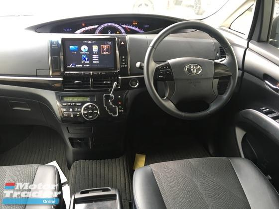 2014 TOYOTA ESTIMA 2.4 Aeras Premium Edition Power Seat 7 Seat Half Leather Body Kit Smart Entry Push Start Button Xenon Light Front Reverse Camera Dual Zone Climate Auto Cruise Control Unreg