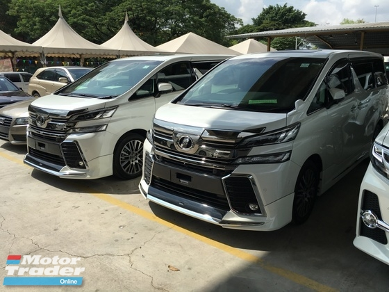 2015 TOYOTA VELLFIRE 2.5ZA POWER BOAT FULL VIEW CAMERA EDITION FAMILY MPV