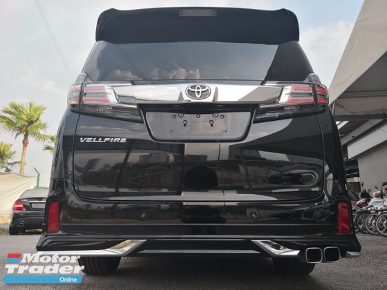 2016 TOYOTA VELLFIRE 2.5 ZG =Pre Crash=Radar Cruiser=JBL=360 Camera=SunRooF=Modellista=100 Units Ready Stock