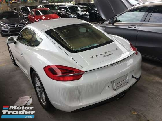 2015 PORSCHE CAYMAN 2.7 PDK JAPAN NO GST FACELIFT LEATHER SEAT 2015 UNREG FREE GMR WARRANTY