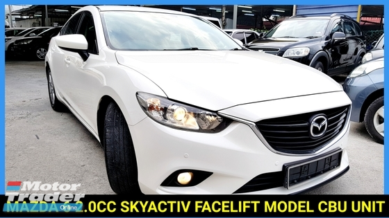 2013 MAZDA 6 2.0 FACELIFT MODEL CBU UNIT FULL SERVICE RECORD