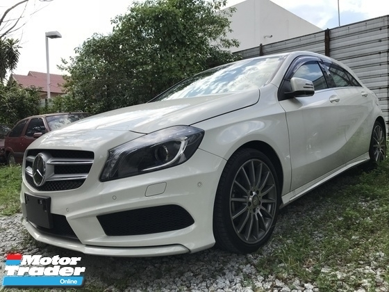 2013 MERCEDES-BENZ A-CLASS 180 UNREG MONSTER WHITE AMG SPORT JPN