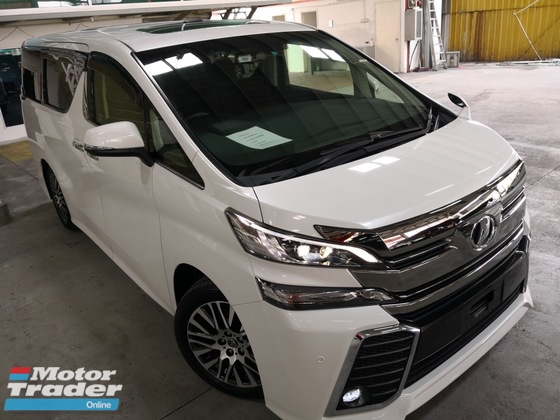 2016 TOYOTA VELLFIRE 2.5 ZG = ALPINE USA Set Front & Roof Monitor = Sunroof