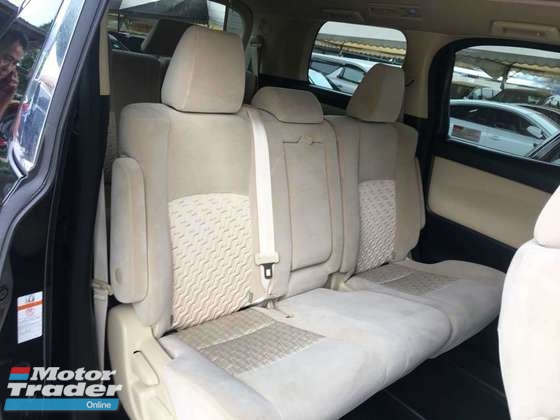 2015 TOYOTA VELLFIRE 2.5 X SPEC 2 POWER DOORS POWER BOOT SURROUNDING 4 CAMERA 2015 JAPAN UNREG NO GST NO SST