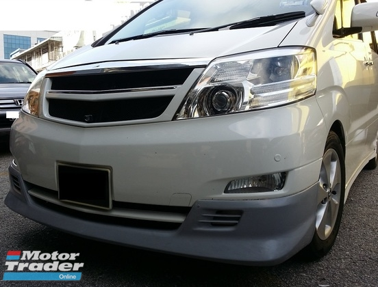 Toyota Alphard 10 anh10 TRD Front skirt Exterior & Body Parts > Car body kits