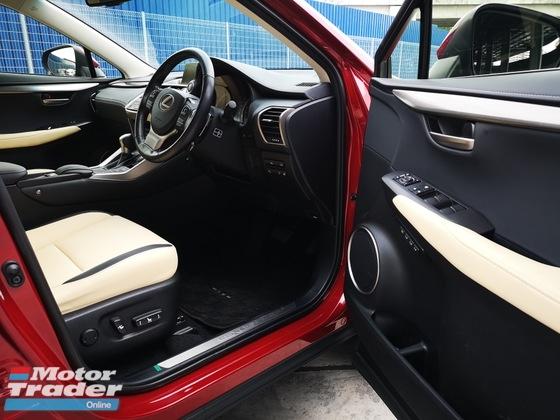 2015 LEXUS NX NX200T IPACKAGE BEIGE LEATHER SEAT UNREGISTERED