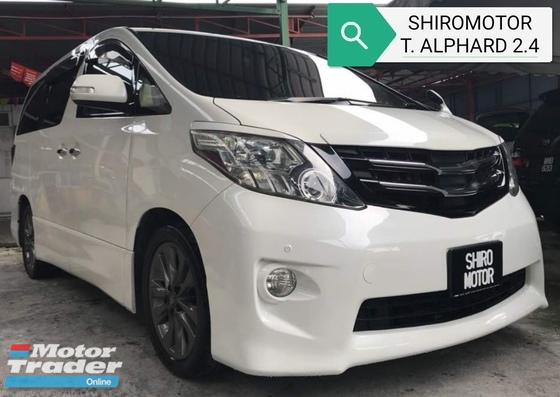 2009 TOYOTA ALPHARD 240G SIDE LIFT UP SEAT