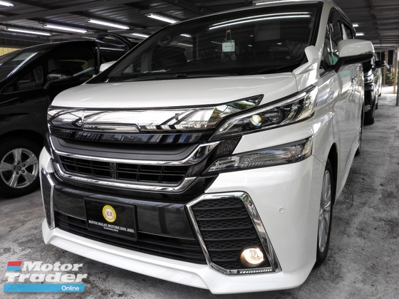2015 TOYOTA VELLFIRE 2.5ZA Edition (PRICE BEFORE SST IMPLEMENT)