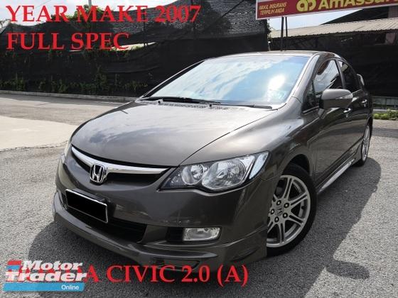 2007 HONDA CIVIC 2.0S ORIGINAL CONDITION CAR KING