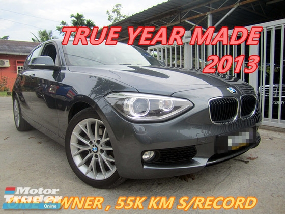 2013 BMW 1 SERIES 116I (A) 55K KM SERVICE RECORD , ONE OWNER , LIKE NEW