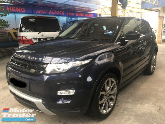 2014 LAND ROVER RANGE ROVER EVOQUE 2.0 (A) 9 Speed Dynamic