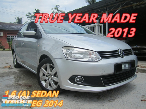 2013 VOLKSWAGEN POLO 1.6 SEDAN (A) ONE OWNER , LEATHER SET , WELL KEPT