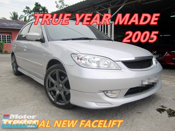 2005 HONDA CIVIC 1.7 VTi (A) NEW FACELIFT , 17\' TYPE R SPORT RIM , BODYKIT