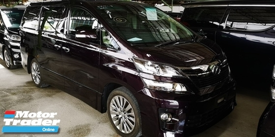 2013 TOYOTA VELLFIRE GOLDEN EYE 2.4 / 7 SEATER / READY STOCK / TIPTOP CONDITION