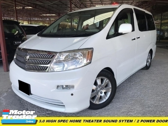 2007 TOYOTA ALPHARD 3.0 V6 FULL SPEC HOME THEATER 2-POWER DOOR FACELIFT MODEL ONE OWNER LOW MILEAGE TIP TOP CONDITION