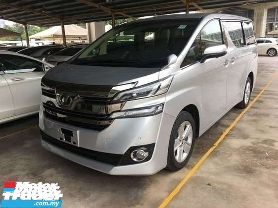 2015 TOYOTA VELLFIRE 2.5 0SST.TRUE YEAR CAN PROVE 15 UNREG.2 WHEEL DRIVE..POWER DRS N BOOT.360 SURROUND CAMERA.DVD N ETC.FREE WARRANTY N MANY GIFTS