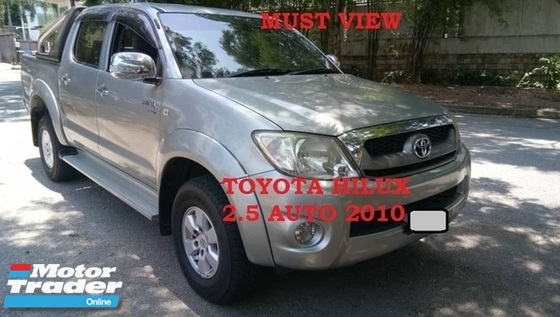 2010 TOYOTA HILUX DOUBLE CAB 2.5G (AT) TOWN USED, NO OFF ROAD, HIGH LOAN, ABS, AIRBAG, LIKE NEW