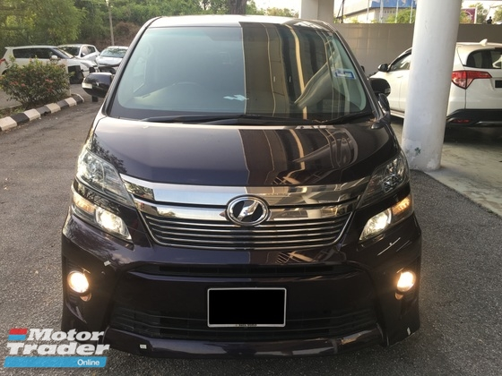 2012 TOYOTA VELLFIRE 2.4Z G EDITION with Low Mileage