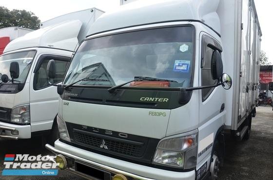 2013 Mitsubishi Fuso FE83PG Fibre Box Van Bonded Body 16ft Green Diesel Engine 5000kg