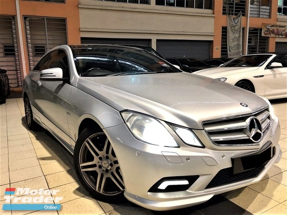 2011 MERCEDES-BENZ E-CLASS 1.8 (A) CGI TURBO COUPE SPORT TIP TOP CONDITION