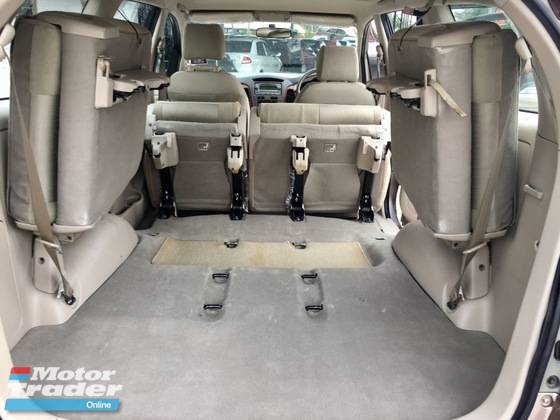 2008 TOYOTA INNOVA 2.0G (A) 1 OWNER 7 SEATER FAMILY FIT