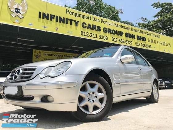 2003 MERCEDES-BENZ C-CLASS 1 OWNER VVIP PLATE PERFECT CONDITION SANGAT MURAH