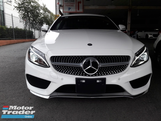 2016 MERCEDES-BENZ C-CLASS C180 AMG COUPE 2 DOORS VERY RARE UNITS JAPAN SPEC