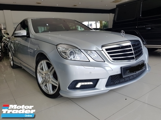 2010 MERCEDES-BENZ E-CLASS E250 AMG LINE 7 SPEED UK SPEC REG 2012