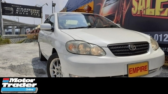 2005 TOYOTA ALTIS 1.8 ( A ) G SPECS !! VVT-I NEW FACELIFT !! PREMIUM HIGH SPECS COMES WITH ELECTRONIC SEATS & ETC !! ( BXX 3382 ) 1 CAREFUL OWNER !!