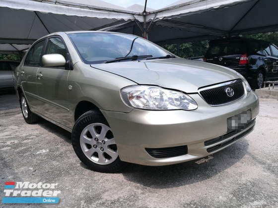 2004 TOYOTA ALTIS Corolla Altis 1.6 (A)  NO SST OFFER BIG DISCOUNT 16800