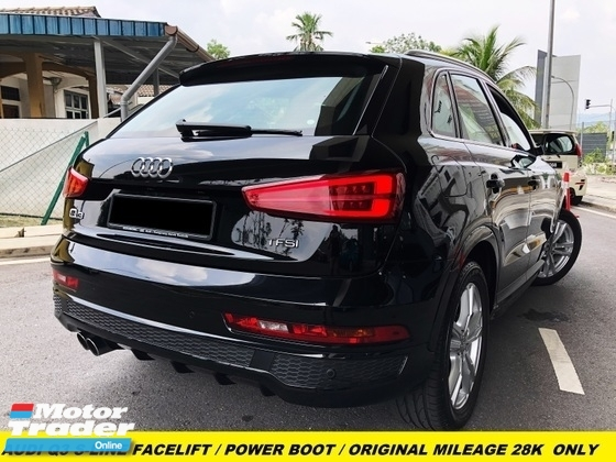 2018 AUDI Q3 Q3 FACELIFTED 1.4 TFSI S-LINE PREMIUM SPEC 28K KM MILEAGE ONLY UNDER WARRANTY BY AUDI MALAYSIA FULL SERVICED RECORD BY AUDI