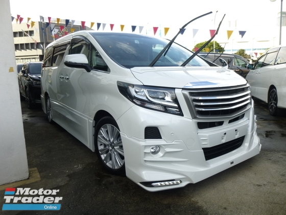 2016 TOYOTA ALPHARD 2.5 S SC. Price NEGOTIABLE. HIGHEST LOAN. Provide WARRANTY. Free Servicing. Vellfire Starex Odyssey