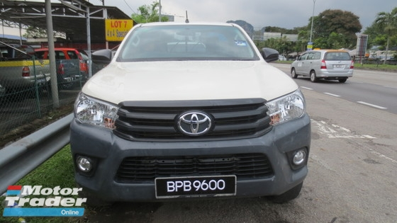 2016 TOYOTA HILUX 2.5 SINGLE CARB