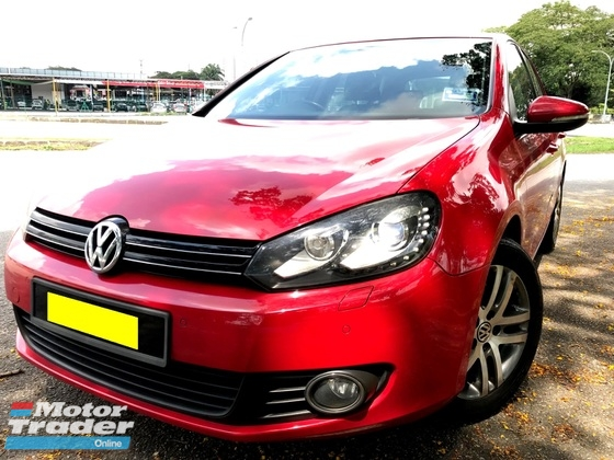 2013 VOLKSWAGEN GOLF 1.4 TSI MK6 TURBO 1 OWNER FULL SERVICE
