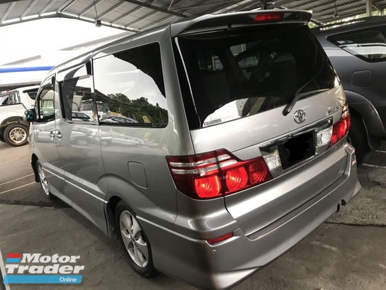 2007 TOYOTA ALPHARD 2.4 AS PREMIUM ALCANTARA 2 POWER DOORS BODYKIT 2007 2012 NO SST