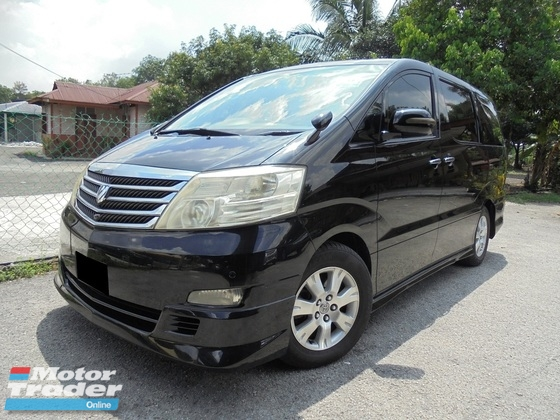 2006 TOYOTA ALPHARD  3.0 V6 MZG Sunroof Moonroof 2Powerdoor Powerboot HomeTheater LikeNEW