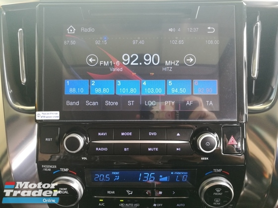 2017 TOYOTA ALPHARD TOYOTA ALPHARD 2.5 SC SUNROOF WHITE LOCAL FM UNREG 17