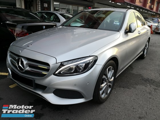 2015 MERCEDES-BENZ C-CLASS C200 2.0 Local TRUE YEAR MADE 2015 NO SST Avantgarde Mil 45k km only Full Service Warranty to Nov 19