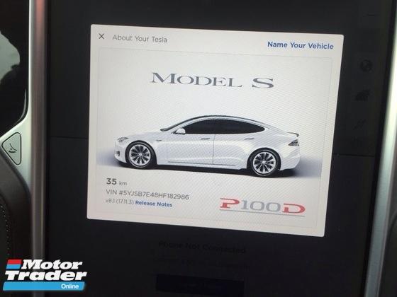 2017 TESLA MODEL S 2017 TESLA MODEL S P100D