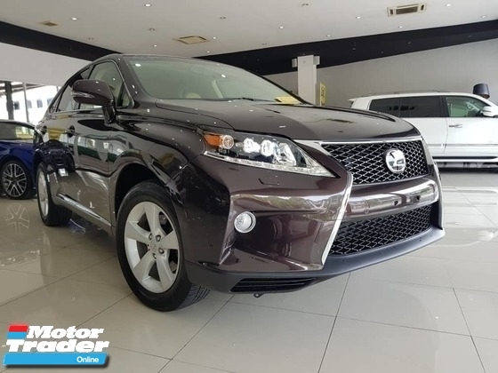 2013 LEXUS RX 270 F SPORT FACELIFTED JAPAN SPEC UNREGISTER