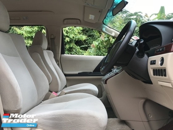 2009 TOYOTA ALPHARD 2.4 VVTi  AUTO 7SEATHER - 2POWER DOOR - DVD PLAYER - REVERSE CAMERA - WELCAB CHAIR, 1DOCTOR OWNER,ACC FREE,FULL SERVICE TOYOTA,SELDOM USE,ALL ORIGINAL CONDITION,NO NEED REPAIR..