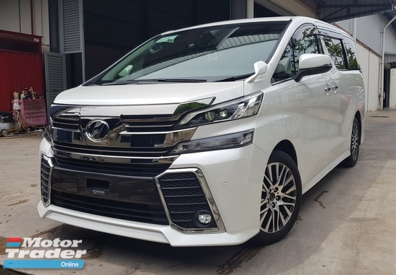 2015 TOYOTA VELLFIRE ZG EDITION SUNROOF 2015 RM249K WITH SST