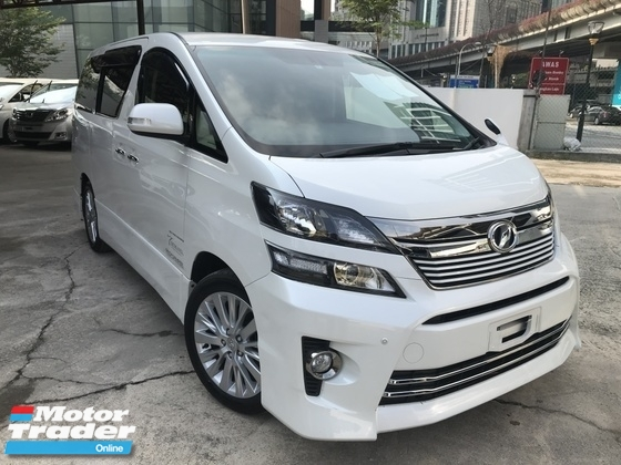 2013 TOYOTA VELLFIRE 2.4 GOLDENEYE 3 POWER DOOR HALF LEATHER UNREG
