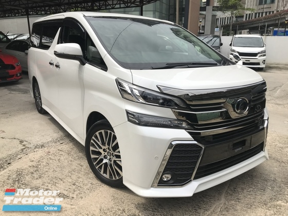 2016 TOYOTA VELLFIRE 2.5 ZG SUNROOF  FULL LEATHER PILOT SEATER 3POWER DOOR UNREG