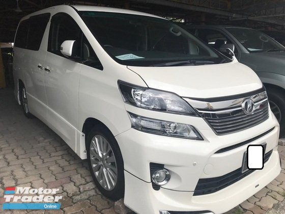 2012 TOYOTA VELLFIRE 3.5Z PLATINUM SELECTION II TYPE GOLD
